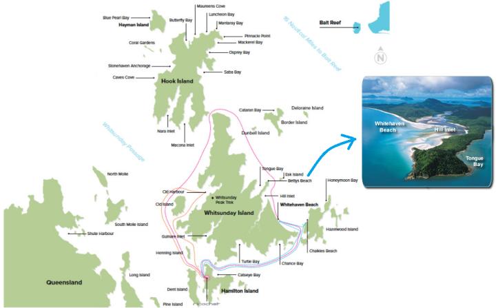 whitsundays+map